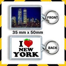 NEW YORK -USA - I LOVE NEW YORK- TWIN TOWERS- TRADE CENTRE- KEYRING
