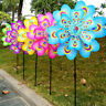 Colorful Cartoon Peacock Windmill Wind Spinner Home Garden Yard Decor Toy Random