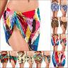 Short Length Chiffon Sarongs Beach Swimwear Bottom Wrap Mini Sarong Cover Up