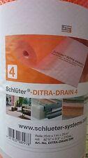 Schlüter Ditra Drain Drainagematte 4mm Entkopplungsbahn 25m Abdichtung 12,40€/m²