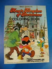 Magic Kingdom of Christmas Coloring Book Ben Franklin Disneyland Characters 1976