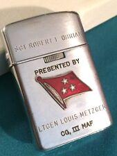 Lt General Louis Metzger Air Ground Team Marine Amphibious Force Award Lighter