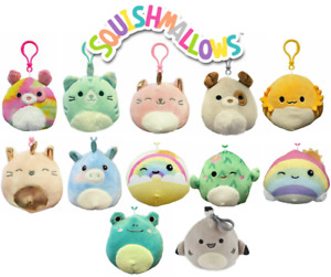 """1x SQUISHMALLOWS Squishy 9cm 3.5"""" Plush Assorted You Choose Clip On Clip-on NEW"""