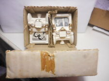 NOS PAIR JEWELED CHINA PICTURE FRAME PHOTO HOLDERS LIKE OLD FASHIONED CARS W/BOX