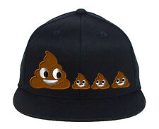 POO POOP FAMILY EMOJI, Snapback Fine Finished Embroidery Hats
