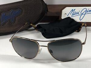Maui Jim Cliff House MJ 247-16 Gold Titanium Sunglasses W/Bronze HCL Polarized