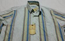 Tommy Bahama LS Leafy Vallarta Silk Shirt Medium T34 13 Jet Ski Blue