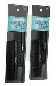 New Conair 4-Pack Smooth & Style Hard Rubber Pocket Combs (K1-4)