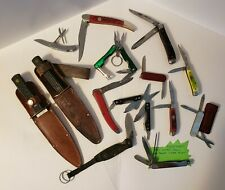 Lot of 15 Collectible Pocket, Key Chain, Utility, Camp Knives
