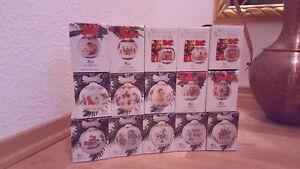 NEU Hutschenreuther Weihnachtskugeln Porzellan komplette Sammlung von 1986-2000