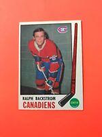 Ralph Backstrom 1969-70 O-Pee-Chee OPC Hockey Card #166  See Photos