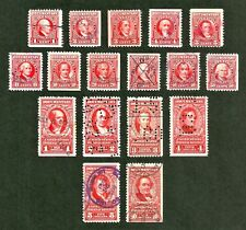 *us 1954 documentary revenue stamps sc#R654-R677 set not complete, few faults