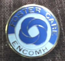 foster care Encomh white and blue pin enameled