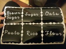New listing Pantry Labels Container Organization Food Storage set of 6 vinyl