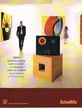 PUBLICITE ADVERTISING  2000   SCHOLTES  table de cuisson DUOLIGHTT