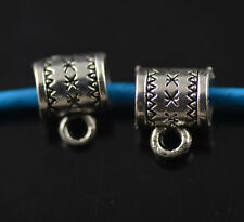 100 Bails Sliver Connectors Holder Clasp Fit 5mm Leather Cord European Jewelry
