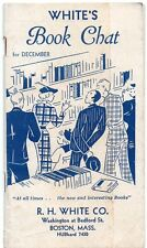 White's Book Chat for December 1936 Catalog R.H. White Co. Boston, MA