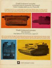 1959 VINTAGE AD, Olivetti-Underwood Praxis 48 Schreibmaschine -122212