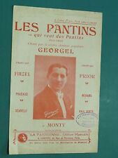 "Partition  Chant ""les pantins"" LÉOJAC P; ALBERTY GEORGEL"