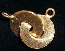Ring-Verschluß, Knebelverschluß, vergoldet 20mm