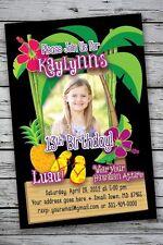 LUAU TROPICAL Invitation Printable 50th 1st Birthday Party Photo Print Hawaiian