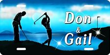 Beautiful Men and Ladies Golf Auto License Plate Personalize Gifts Many Colors