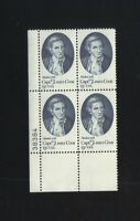 BLOCK OF 4 - 13 CENT STAMPS CAPTAIN JAMES COOK DISCOVERS ALASKA 1778 COMM