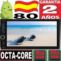 4GB RAM ANDROID 8.0 2DIN UNIVERSAL OCTA CORE COCHE GPS RADIO 3G WIFI 4G USB SD