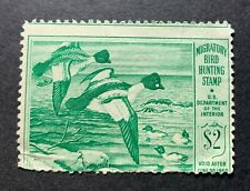 Wtdstamps - #Rw16 1949 - Us Federal Duck Stamp - Ng - Mis-Perf at top Error