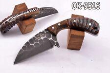 "5.1""KMA FLINT KNAPED ACID WASHED 52100 BEARING STEEL SKINNER KNIFE 9516"