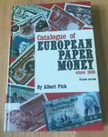 Catalogue of European Paper Money Since 1900 by Albert Pick - 2nd Ed 1974