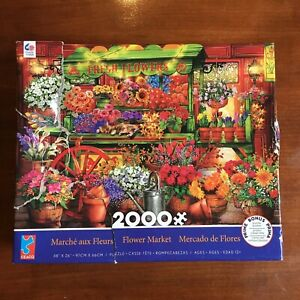 Ceaco Flower Market Jigsaw Puzzle 2000 Pieces