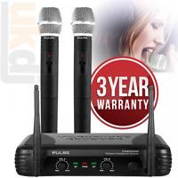 PWM200 VHF Wireless Radio Microphone System Twin Handheld Mic Kit KWM11 Karaoke