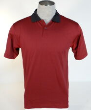 Adidas Golf ClimaCool Burgundy & Black Short Sleeve Polo Shirt Men's Small S