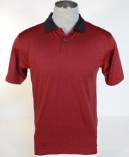 Adidas Golf ClimaCool Burgundy & Black Short Sleeve Polo Shirt Men's Small S