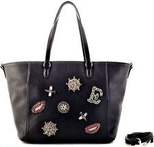 Borsa Spalla Tracolla Donna Nero Ermanno Scervino Bag woman Black Shopper Betty