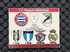 PINS BADGE FOOTBALL SOCCER ASSE SAINT ETIENNE  BAYERN MUNCHEN 1976