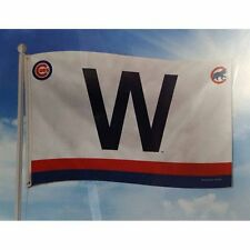 "Chicago Cubs Retro ""W"" MLB Banner Flag   3' x 5'  (36"" x 60"") ~ NEW"