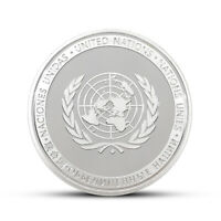 United Nations Peace Keeping Operation Commemorative Challenge Silver Token Coin