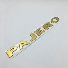 Gold Pajero Tailgate Fender Side Door Badge Emblem For Mitsubishi V31 V32 V33 Fits 1998 Mitsubishi
