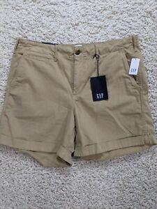 Gap Women's Shorts 12 Beige Khaki Pockets Cotton NEW 2023