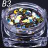 mini DOTS PAILLETTES metallo NAIL ART 1mm 2mm 3mm colorate METAL SEQUINS unghie