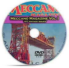 Meccano Magazine Vol 1, 197 Classic Issues, Boy Hobby Toy History Mag DVD CD C14