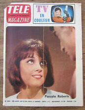 ANCIEN TELE MAGAZINE 1965 PASCALE ROBERTS