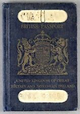 BRITISH PASSPORT 1930 IMPERIAL AIRWAYS IRAQ EGYPT SUDAN REVENUE CONSULAR STAMP