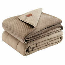 """Pendleton 15 LBS Weighted Blanket 48"""" x 72"""" with Removable Cover (Beige)"""