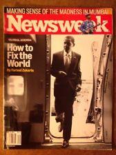 Newsweek Magazine Global Agenda Barack Obama How To Fix The World Dec. 8, 2008