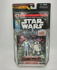 Star Wars Comic Packs #4 Luke Skywalker R2D2 action figure 2006 MOC