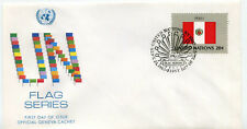United Nations #408 Flag Series 1983, Peru, Official Geneva Cachet, Fdc