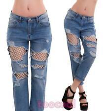 LEXXURY KAROSTAR Jeans Hose Boyfriend Baggy B67 hellblau